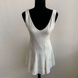 NWT Love Ady White and Gold A-Line Dress Medium